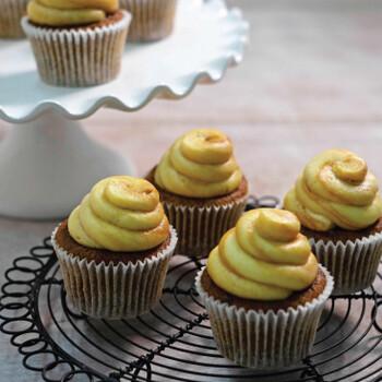 Butterscotch Banana Cupcake