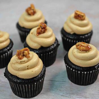 Salted Peanut Butter Cupcake